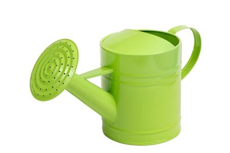 green sprinkler isolated on white Stock Photo