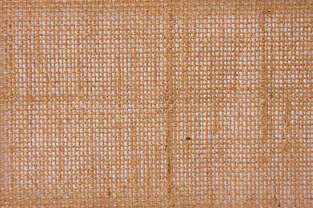 abstract texture of a linen sack for shopping photo