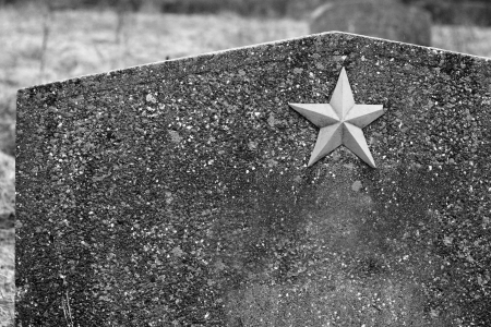 Detail of a headstone from the unknown soviet soldier