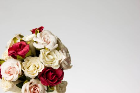 Bouquet of flowers isolated on white Stock Photo