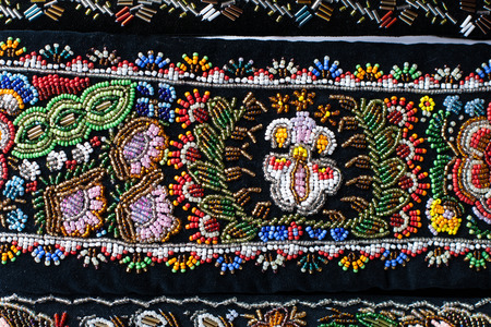 Detail of a romanian traditional design Stock Photo