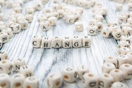 change word background on wood blocks. Wooden ABC