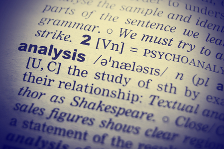 English dictionary: Definition of word analysis in English dictionary.