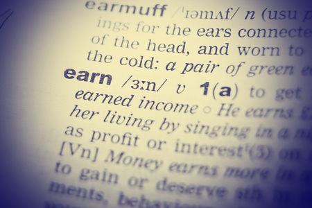 english dictionary: English Dictionary definition of the word earn