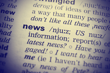 pronunciation in letters: English Dictionary definition of the word News