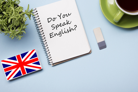 Learn English concept. Time to Learning languages Stockfoto - 91329697