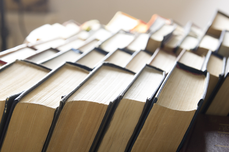 Stack of books background. many books piles. 写真素材 - 97961899
