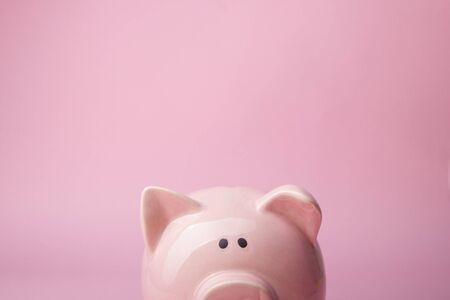 Piggy bank and dollar cash money. Business, finance, investment, saving and corruption concept.