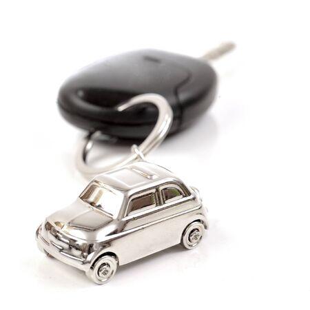 Key car with little key ring in car