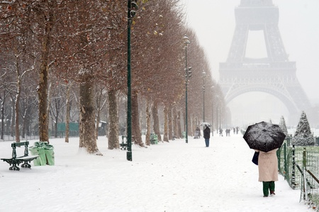 Paris unter Schnee