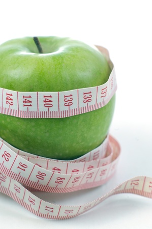 Apple and meter - Diet photo