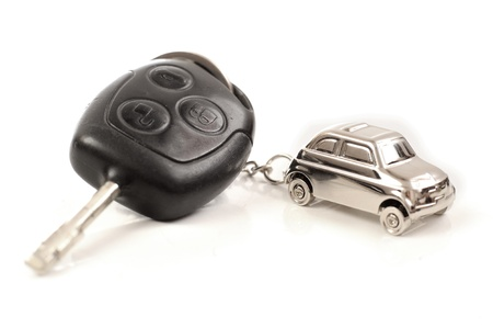 Key car with little key ring in cars shape photo