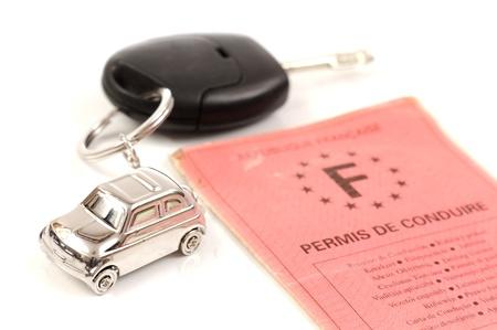 Voiture à clé avec porte-clé en forme de petite voiture