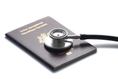 stethoscop and passports Stock Photo - 12039204