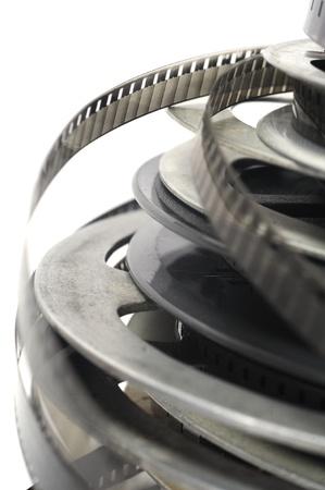 Old fashioned rouleau de vidéo en noir et blanc