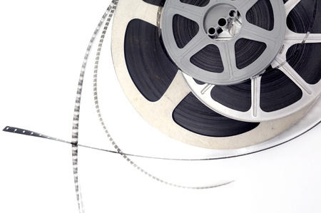 Old fashioned black and white video roll  Stock Photo