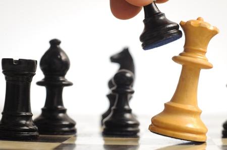 battle plan: Chess Stock Photo