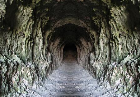 Tunnel di roccia Archivio Fotografico