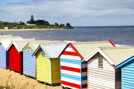 Boîtes de baignade sur la plage de Brighton - Melbourne