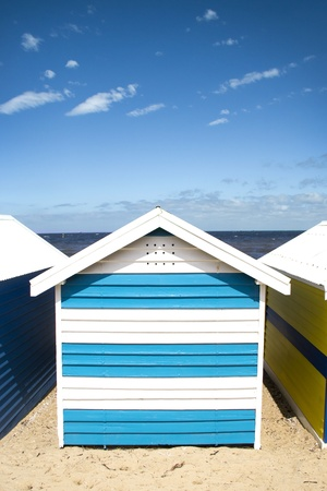 Bathing boxes on brighton beach - Melbourne photo