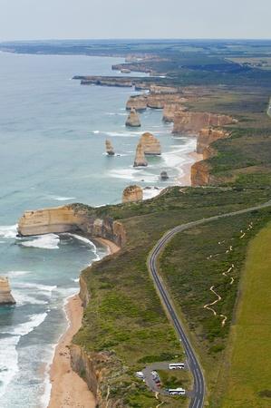 sea line: 12 Apostles On the Great Ocean Road - Australia