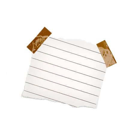 little pieces of paper on a white background in high definition  Stock Photo - 16966401