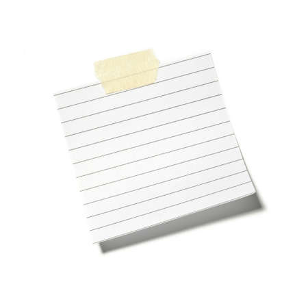 little pieces of paper on a white background in high definition  Stock Photo - 16962657