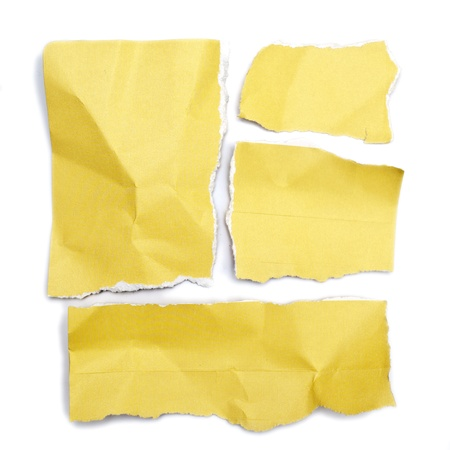 little pieces of paper on a white background in high definition  photo