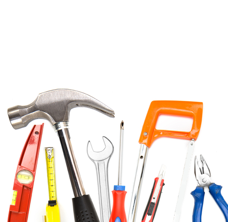 crimper: View of collection of tools on high definition