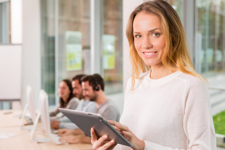 ttractive: View of a young a ttractive woman at work