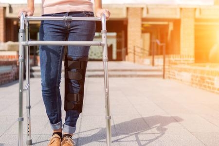 splint: Cierre de vista de una férula y andador