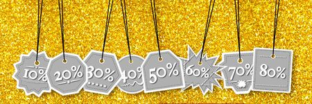 per: Concept view of percentage label for sales promotion