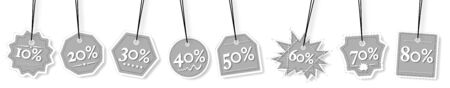 sales promotion: Concept view of percentage label for sales promotion