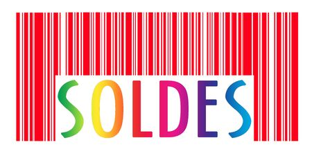 Concept view of barcode with sales text printed on it Stock Photo