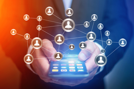 Concept view of business international network interface - Technology concept