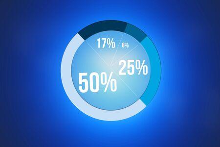 Weergave van een grafiek van de statistiek geïsoleerd op een achtergrond - bedrijfsconcept Stockfoto