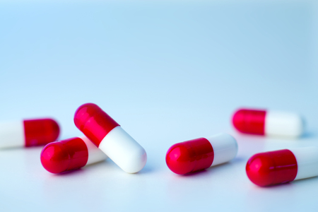 View of Medical healthcare pills isolated on a background