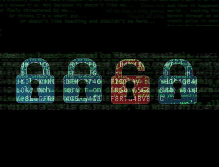 View of a Cyber attack concept on a technology interface