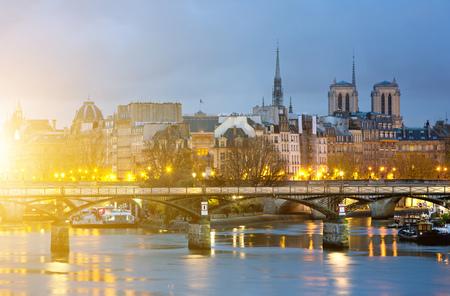 View of Ile de la cite and notre dame de Paris Cathedrale , France  Stock Photo