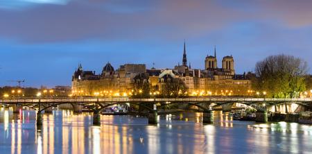 View of Ile de la cite and notre dame de Paris Cathedrale , France  免版税图像