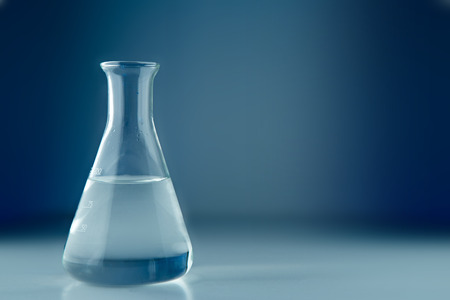 View of a Laboratory flask isolated on a background 스톡 콘텐츠