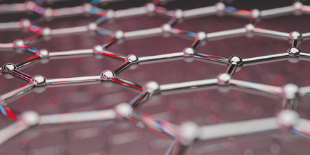 View of a graphene molecular nano technology structure on a background - 3d rendering Zdjęcie Seryjne