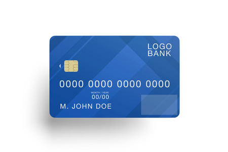 Mock up view of a credit card
