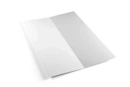Mock up vista di una brochure su un bianco