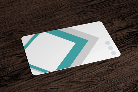 Mock up view of a rounded corner card - 3d rendering Imagens