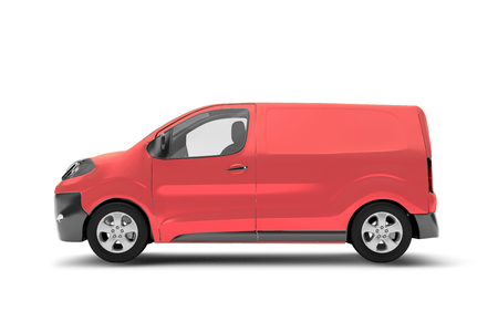 Mock up view of a van on a white