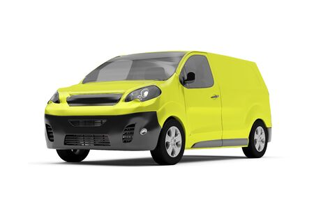 View of a Van isolated on a white background