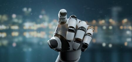 View of a Robot Hand Cyborg - 3d rendering 写真素材