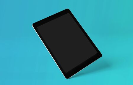 Mock up view of a smartphone isolated on a background with shadow - 3d rendering Banco de Imagens - 129468822