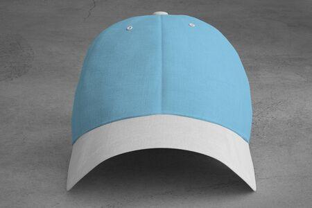View of a Mock up of a baseball cap Banco de Imagens - 129468828
